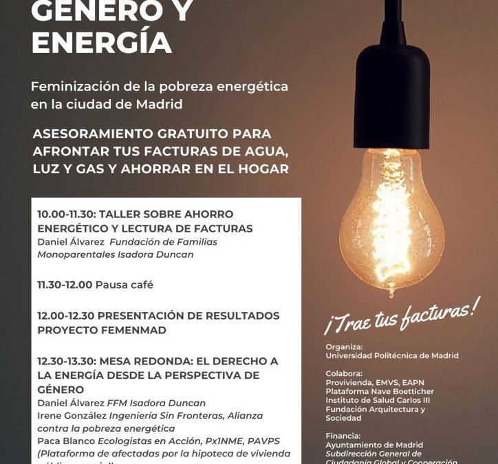 JORNADAS 'GÉNERO Y ENERGÍA', PROYECTO FEMENMAD